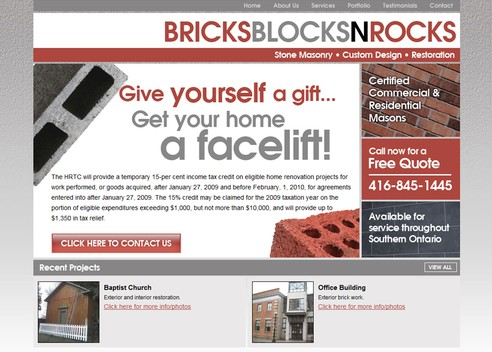 BricksBlocksNRocks.com Homepage