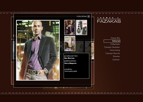 ThomasFazakas.com Editorial - Detail View
