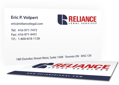 Reliance Legal Services Business Card